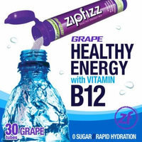 Zipfizz Healthy Energy Drink Mix, (Grape, 30-Count)