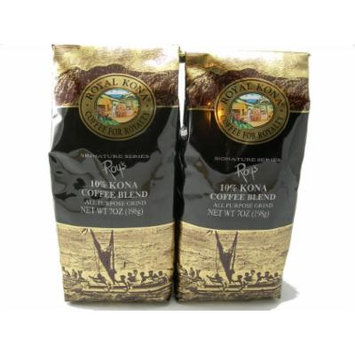 Royal Kona Coffee Roy's Signature Series - Value Twin Pack (All Purpose Grind) - 14 oz