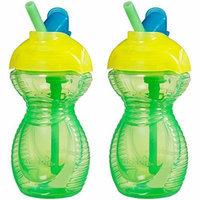 Munchkin Click Lock 2 Count Flip Straw Cup, 9 ounce - Green/Green