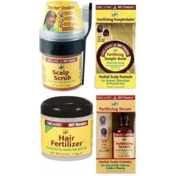 ORS Super Fertilizing Set (Fertilizing Serum, Hair Fertilizier, Fertilizing Temple Balm, Scalp Scrub)