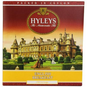 Hyleys Tea English Breakfast Black Tea, 100-Count Bags (Pack of 6)
