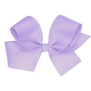 Wee Ones Solid Color Hair Bow with a No Slip Clip, Lavender