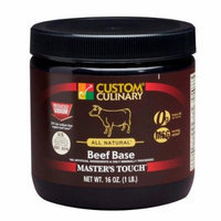 Custom Culinary Master's Touch All Natura, Gluten Free Reduced Sodium Base, Beef, 1 Pound