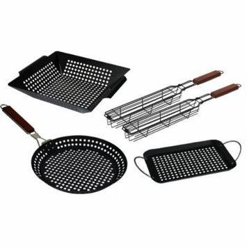 Ultimate Outdoor Cooking Set/Bonus Grilling Kabob Basket Set