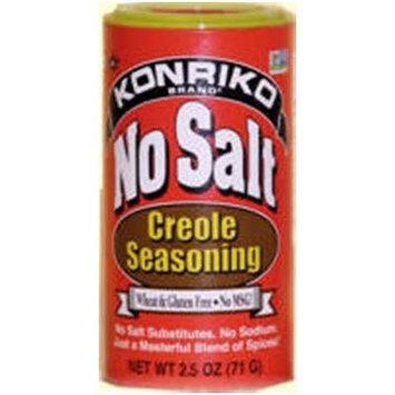 Konriko NO Salt & NO MSG Creole Seasoning 2.5oz Canister (Pack of 3)