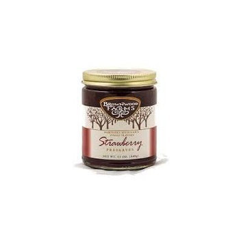Brownwood Farms Strawberry Preserves 12 Oz Jar (Pack of 2)