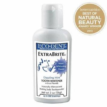Eco-Dent Daily Care Tooth Powder, Extra Brite Whitener 2 oz (56 g)