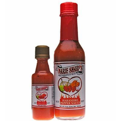 Marie Sharp's Hot Habanero Work 'N Home Pack 1-5 Oz and 1-2 Oz Bottle