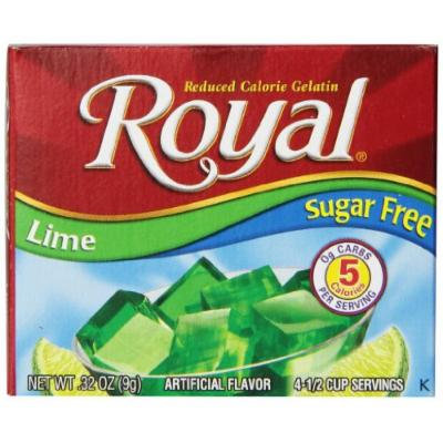 Royal Gelatin, Sugar Free, Lime, 0.32-Ounce (Pack of 12)
