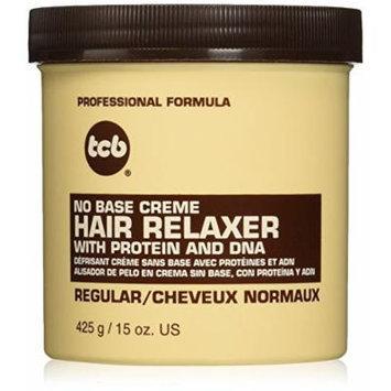 TCB No Base Creme Hair Relaxer, Regular, 15 Ounce