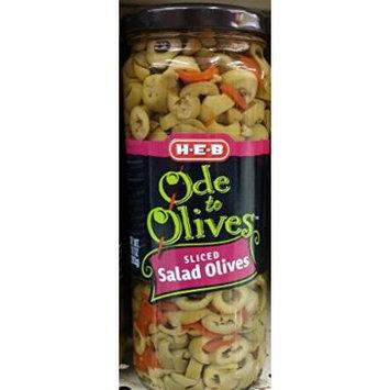HEB Ode to Olives Sliced Salad Olives with Pimentos 10 Oz (Pack of 3)