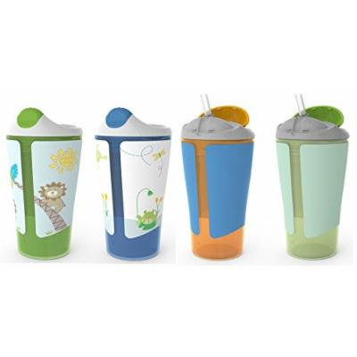 Born Free Grow with Me 10 oz Sippy Cup & Straw Cup Set, Blue