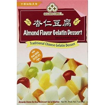Golden Coins Brand ALmond Flavor Gelatin Dessert