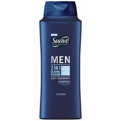 Suave® Men 2 in 1 Shampoo and Conditioner, Classic Clean Anti Dandruff