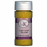 CK Products 4 Ounce Sugar Crystals Bottle, Yellow