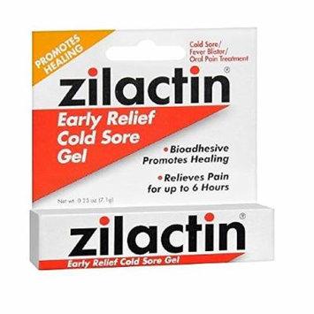 Zilactin Cold Sore Relief Gel 0.25 oz (7.1 g)