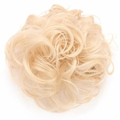 OneDor® Synthetic Clip on/in Messy Hair Bun Extension Chignon Hair Piece Wig (613#-Pre Bleach Blonde)