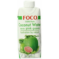 FOCO Pure Coconut Water, Pink Guava, 11.2 Fluid Ounce (Pack of 12)