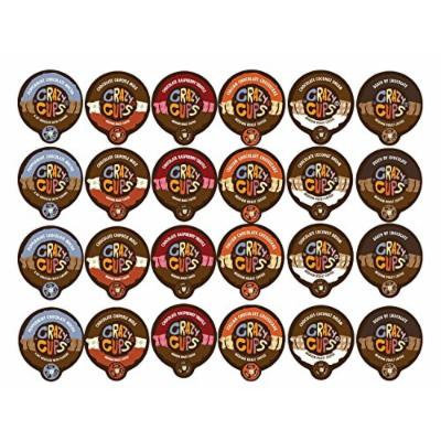 Crazy Cups Coffee Chocolate Lovers Single Serve Cups Variety Pack Sampler for the K Cup Brewer, 24 count