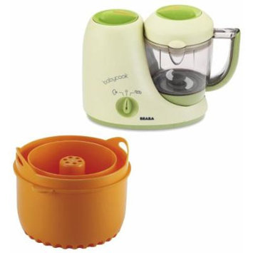 Beaba Babycook Classic Baby Food Maker with Rice, Pasta & Grain Insert, Sorbet