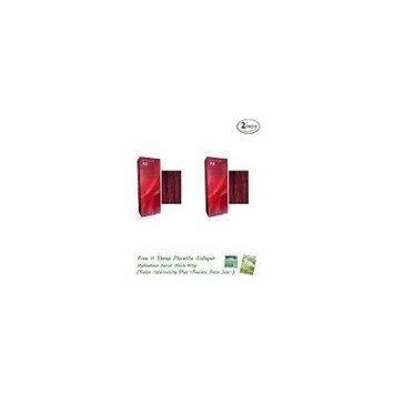 2 Packs of Berina Hair Professional Permanent Hair Color Cream (A 9) Garnet Red Color
