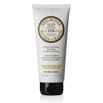 Perlier Shea Butter Hand Cream with White Lily Extract HUGE Size ~ 6.7 fl. oz.