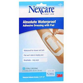 Nexcare(TM) Absolute Waterproof Adhesive Dressing with Pad, 3 1/2 in x 8 in