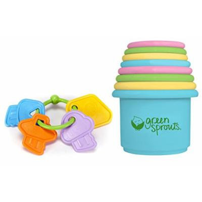 Green Toys My First Keys with Green Sprouts Stacking Cups