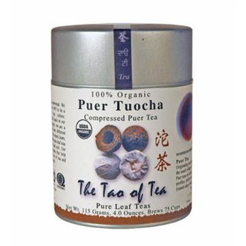 The Tao of Tea, Puer Tuocha Pu-er Tea, 4-Ounce Tins (Pack of 3)