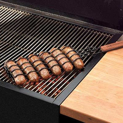 Charcoal Companion Non-Stick Adjustable Sausage Grilling Basket, Set of 2