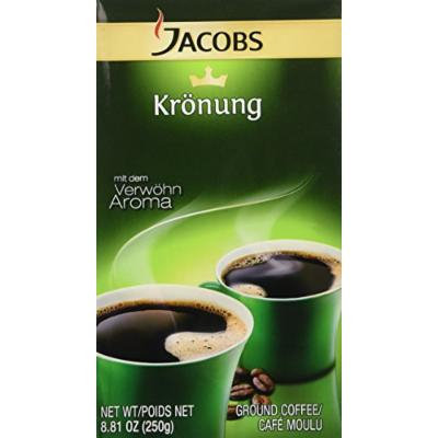 Jacobs Kronung Coffee, 8.81-ounce Vacuum Packs (Pack of 6)