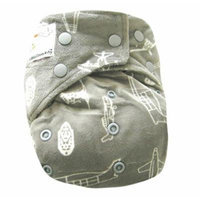 KAWAII BABY MINKY BAMBOO CHARCOAL ONE SIZE CLOTH DIAPER W/ 2 BAMBOO INSERT NEW