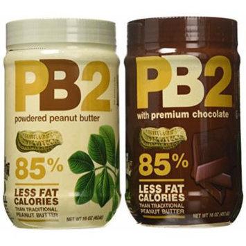 Bell Plantation Bundle: 3 Regular Powdered Peanut Butter 16oz and 3 Chocolate Powdered Peanut Butter 16oz
