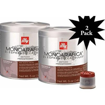 Illy Iper 42 espresso capsules, Monoarabica Guatemala, (2-Pack) two 21ct cans #7473