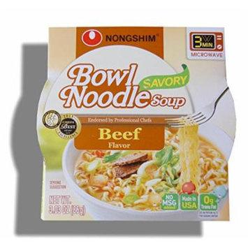 Nongshim Bowl Instant Noodle Soup Assorted Flavors (Savory Beef)