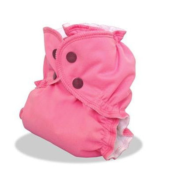 AppleCheeks 2-Size Envelope Cloth Diaper Cover, Pink About It, Size 2 (18-35+ lbs)