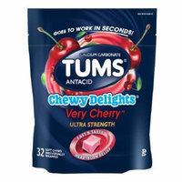Tums Chewy Delights, Very Cherry 32 ea Pack of 4