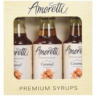 Amoretti Premium Caramel Syrups 50ml 3 Pack