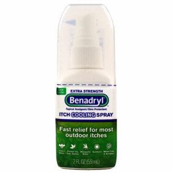 Benadryl Itch Relief Spray, Extra Strength-2oz Pack of 3