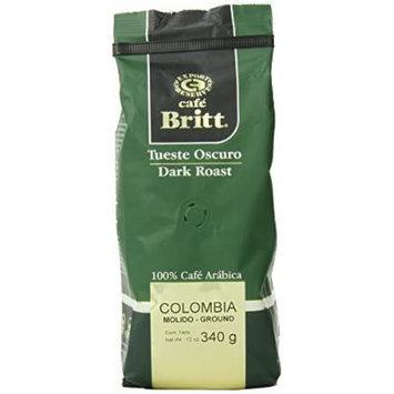 Cafe Britt Colombia Dark Roast Ground, 12 Ounce