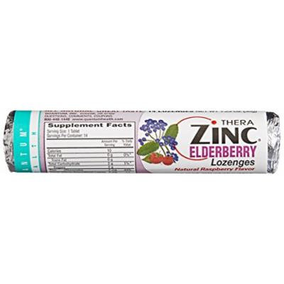 Quantum Health, Zinc Elderberry Roll, Raspberry, 14 Lozenges (Pack of 12)