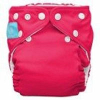 Charlie Banana One Size Cloth Diaper + 2 Reusable Inserts - Hot Pink