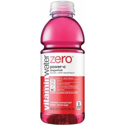 Vitamin Water Zero, Power-c, 20 Oz (Pack of 24)
