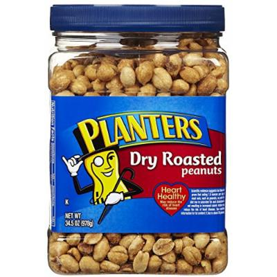 Planters Dry Roasted Peanuts, with Sea Salt
