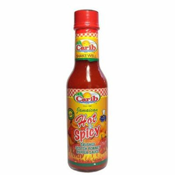 Carib Jamaican Crushed Scotch Bonnet Peppers Hot N Spicy Sauce