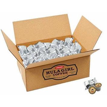 Hula Girl 100% Kona Coffee Single Servings - K-Cup box of 50