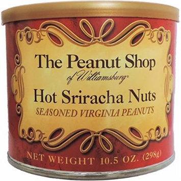 The Peanut Shop of Williamsburg Hot Sriracha Seasoned Peanuts - 10.5 Ounce Tin