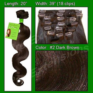 Pro Extensions Hair Extensions #2 Dark Brown - 20 inch Body Wave