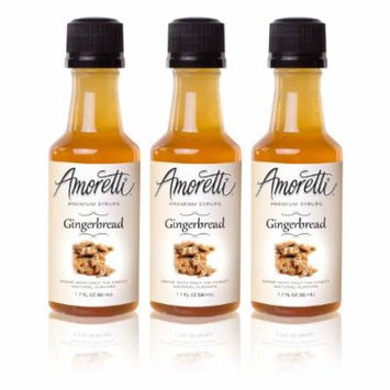 Amoretti Premium Gingerbread Syrups 50ml 3 Pack