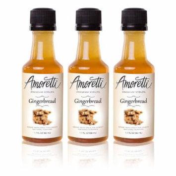 Amoretti Premium Gingerbread Syrups 50ml 3 Pack